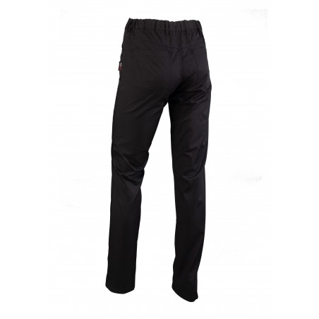 Fitted Women's Chef Cooking Trousers Pants in Black Back