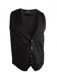 Deep V-Cut Mens Waiter Vest with Snap Buttons