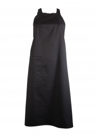Unisex Bib Apron on Jet Black with Pocket