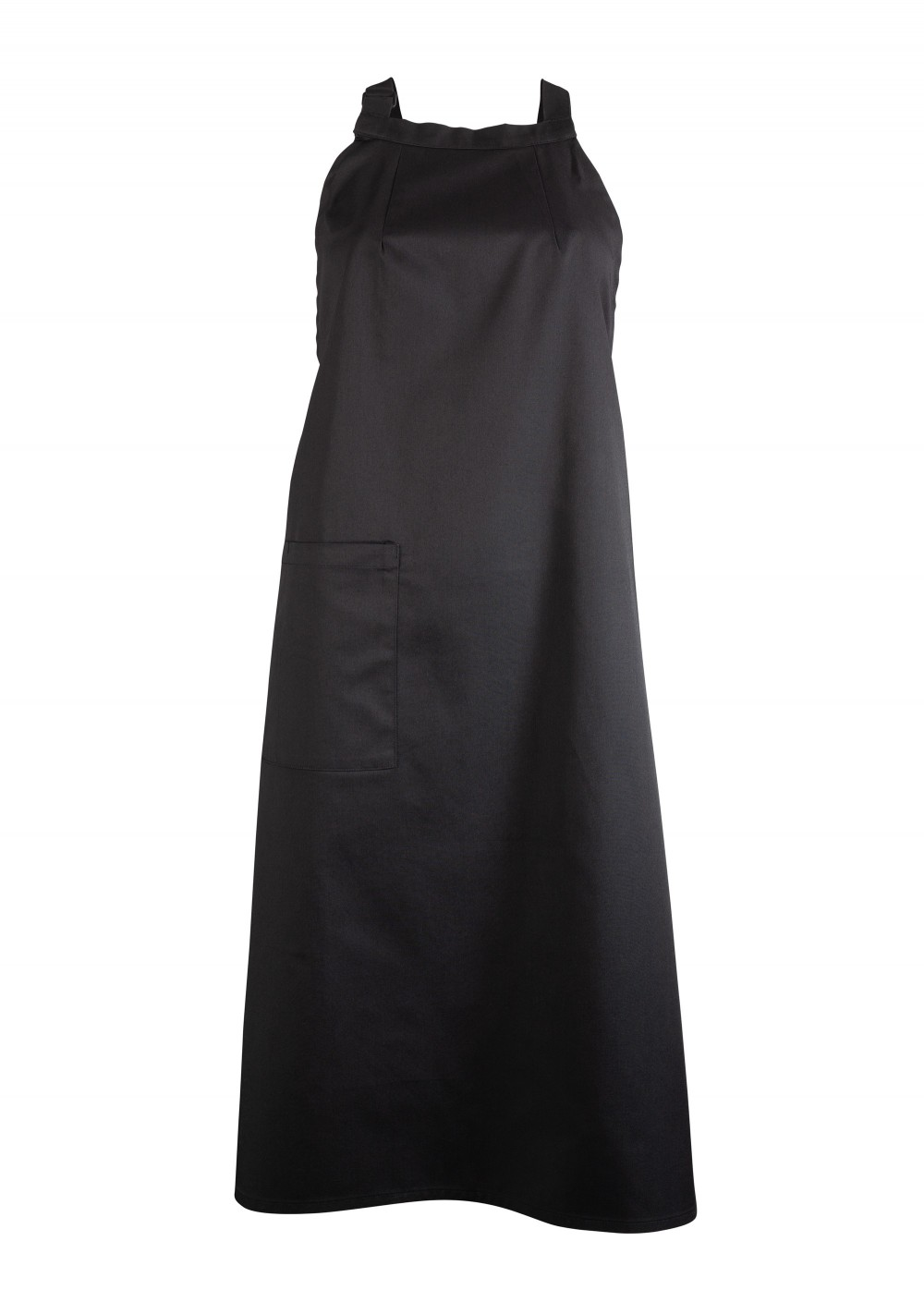 Unisex Bib Apron on Jet Black with Pocket