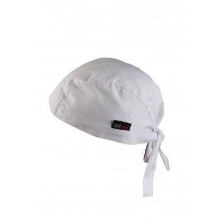 Bandana Style Kitchen Head Wrap in White