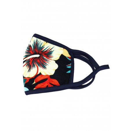 hawaii print face mask with medical grade filter for men and women