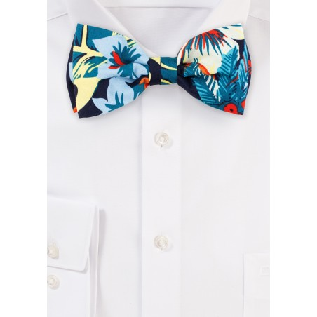 Hawaii Print Bow Tie in Cotton