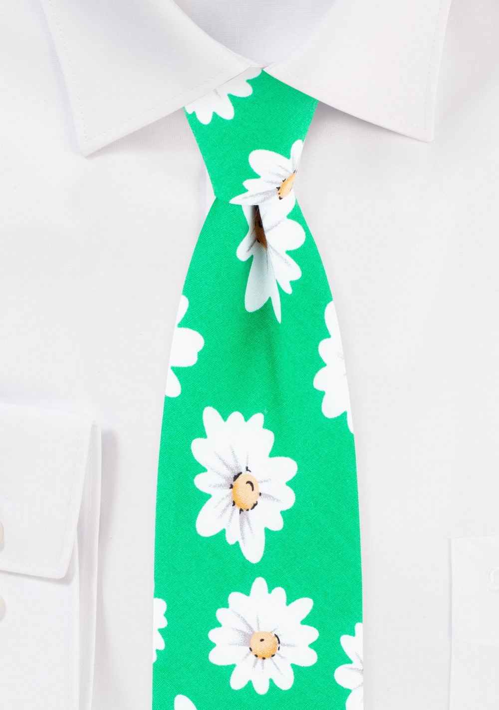 Daisy Flower Print Summer Tie in Cotton