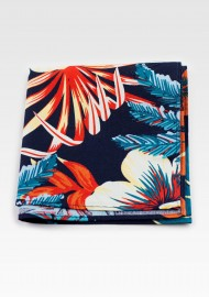 Hawaii Print Pocket Squares in Cotton