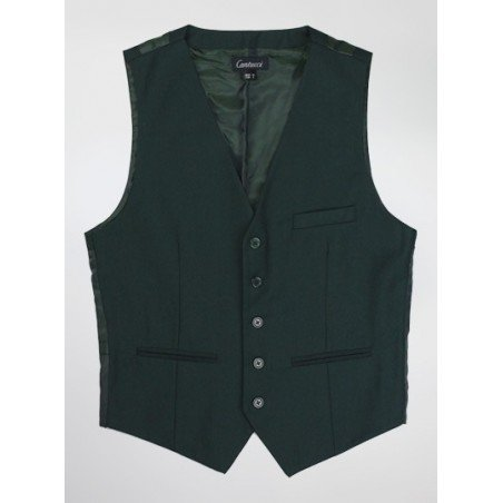 Mens Vest in Hunter Green