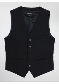 Suit Vest in Formal Black
