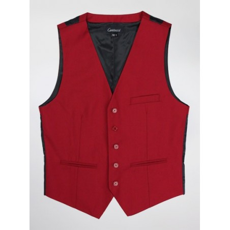 Mens Suit Vest in Cherry