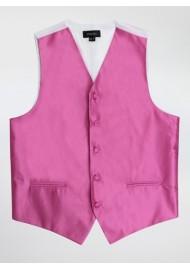 Mens Dress Vests in Begonia Pink