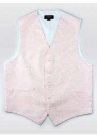 Blush Pink Paisley Dress Formal Vest