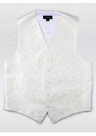 Ivory Mens Paisley Formal Vest