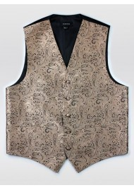 Bronze Gold Formal Paisley Vest