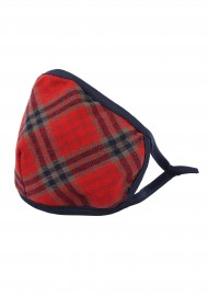 tartan plaid filter face mask in cotton