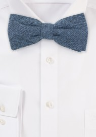Denim Blue Designer Bow Tie