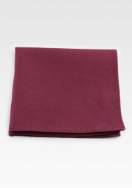 Wine Red Cotton Pocket Square