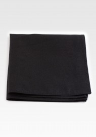 Matte Cotton Hanky in Jet Black