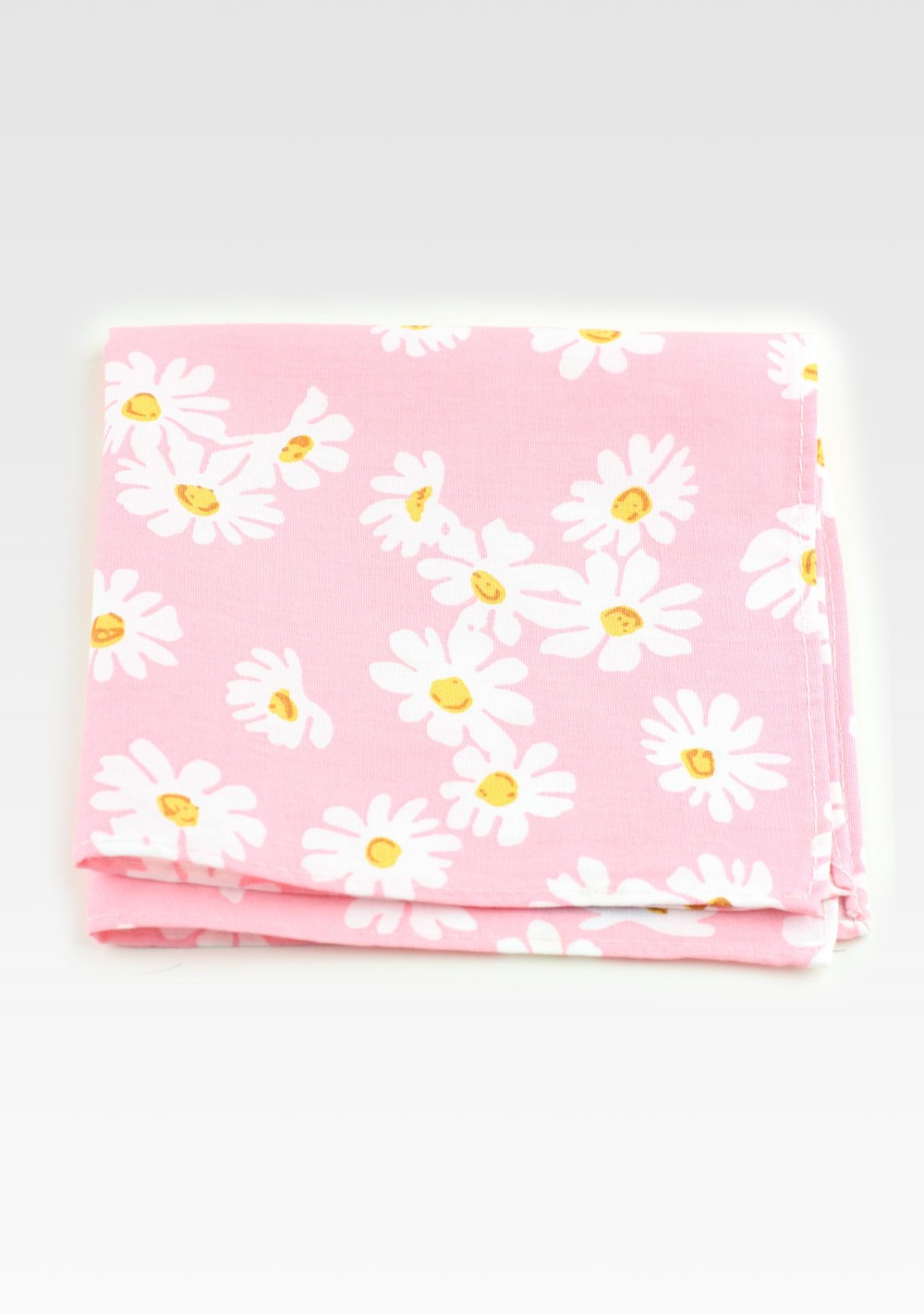 Pink Floral Cotton Pocket Square