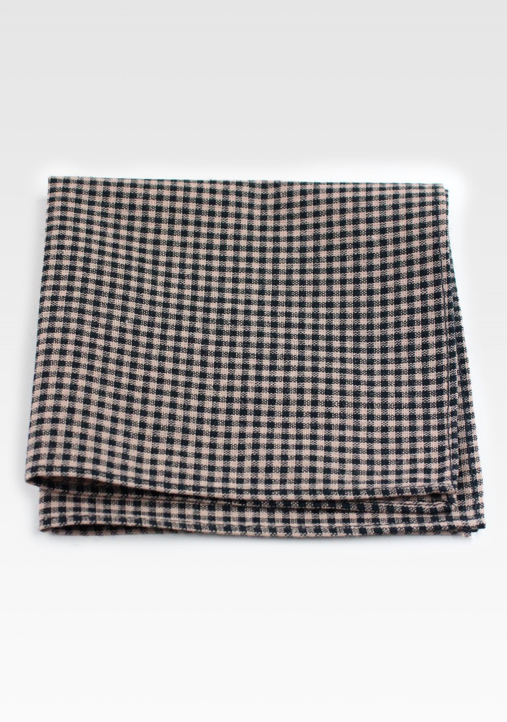 Tweed Cotton Hanky in Brown