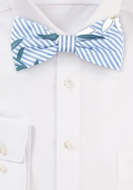 Floral Stripe Summer Bow Tie