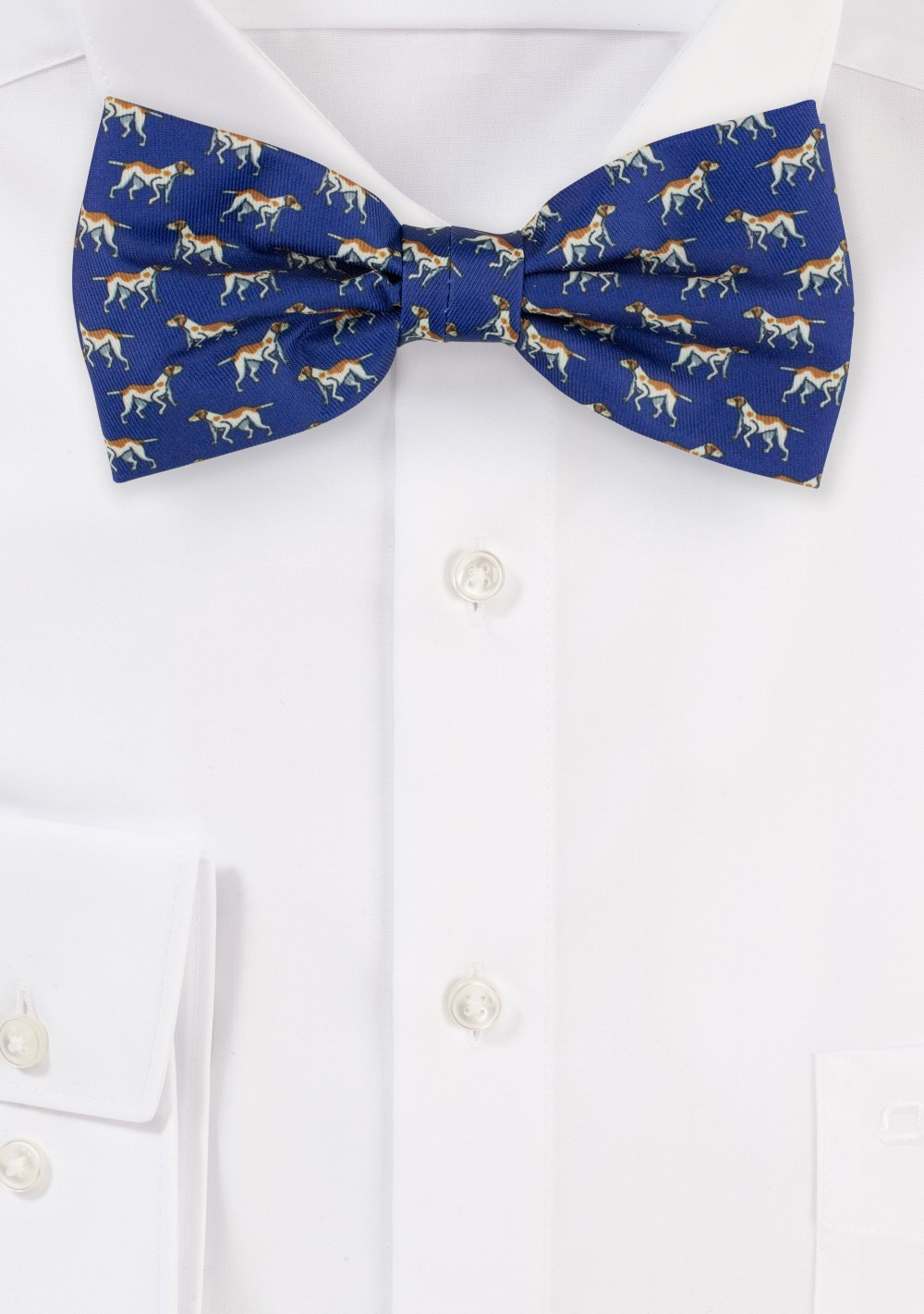 Dog Print Bow Tie in Navy
