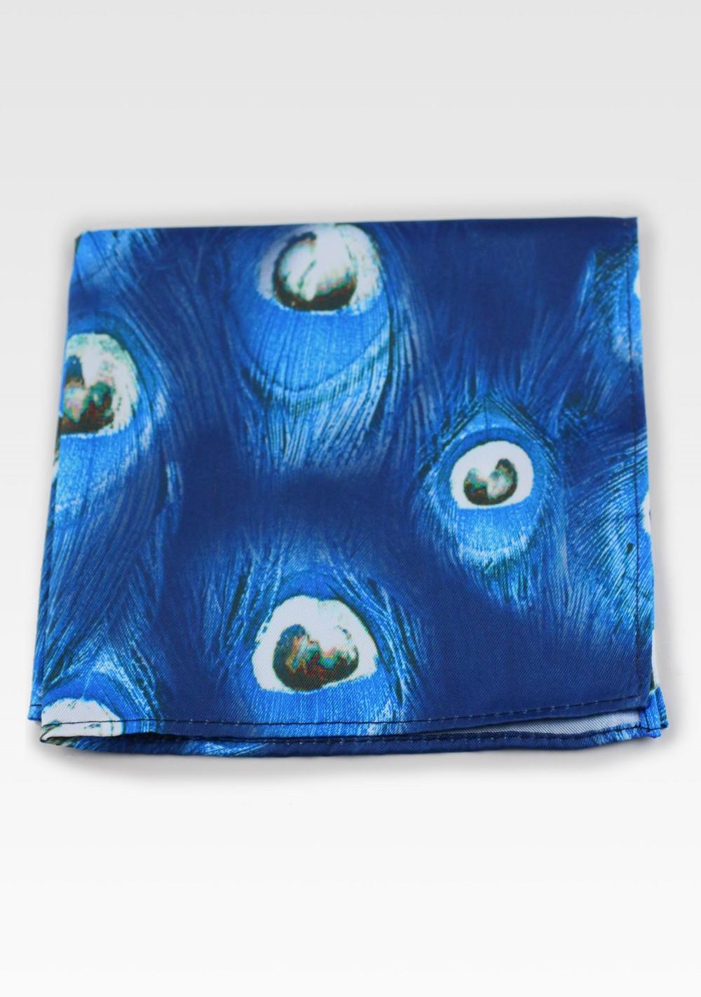 Royal Blue Paisley Pocket Square.Royal Blue Wedding Pocket Square.Silk handkerchief 10x 10