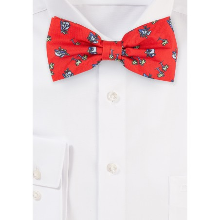 Red Bow Tie with Palm Trees and Koala Bears