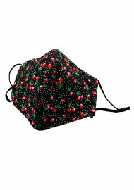 Cherry Print Cotton Filter Face Mask