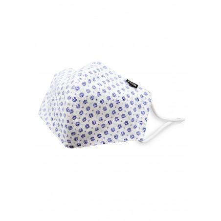 White Designer Filter Mask in Pure Cotton