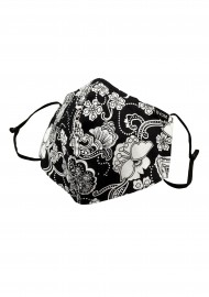 Black and White Bandana Paisley Face Mask