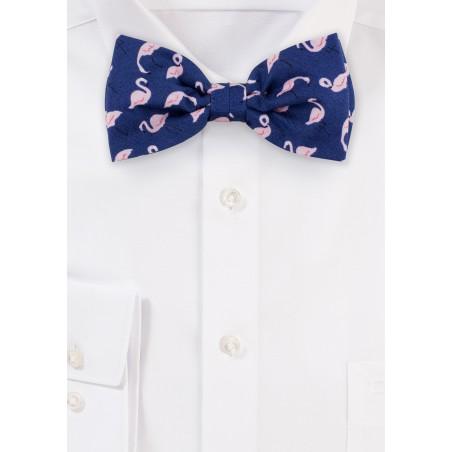 Flamingo Print Bow Tie