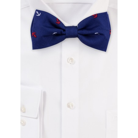 Nautical Bow Tie in Navy Blue