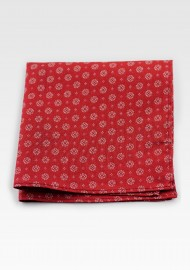 Pocket Square in Cherry Red