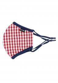 Red and White Gingham Face Mask for Kids