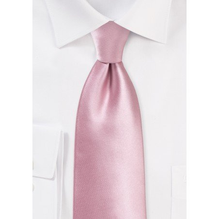 Dusty Rose Tie in XL Length