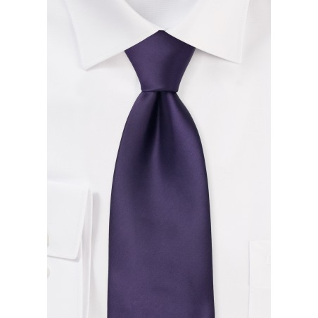 Solid Purple Necktie in XL Length