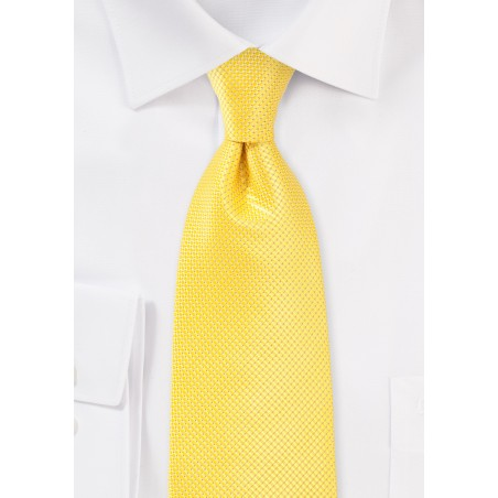 Bold Colored Tie in Sunbeam Yellow