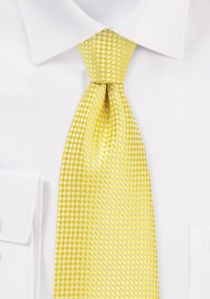 Vibrant Yellow Mens Necktie