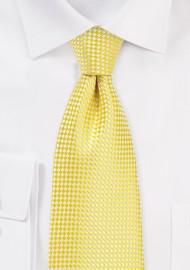 Vibrant Yellow Mens Necktie