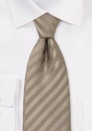 Extra Long Necktie in Golden-Tan