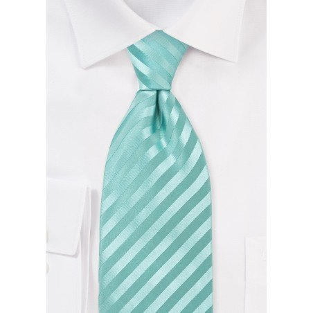 Extra Long Mens Silk Tie in Mint-Green