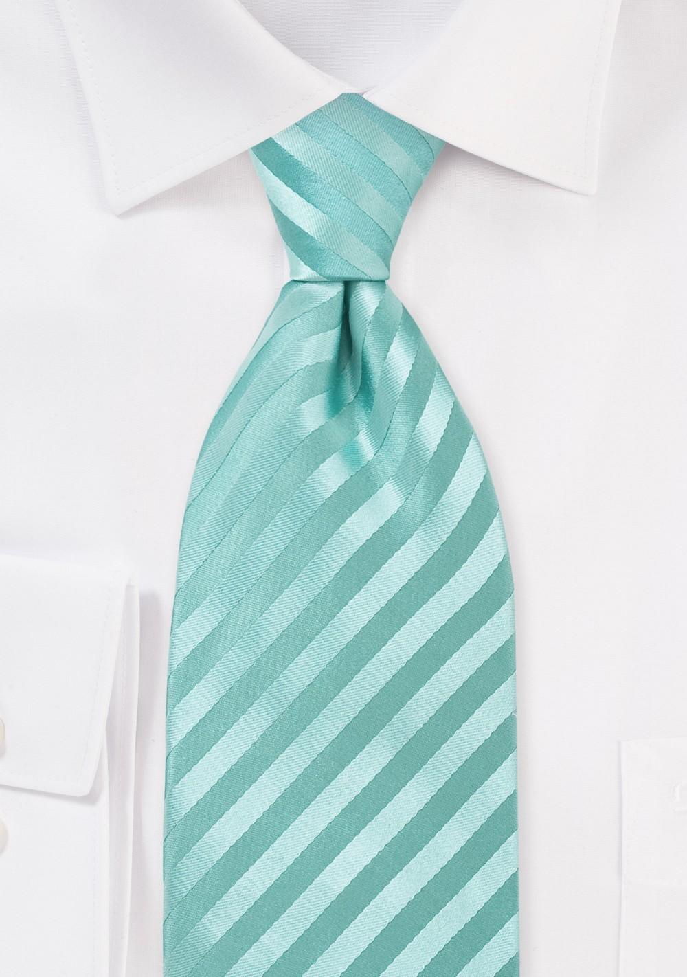 Kids Sized Silk Tie in Mint-Green