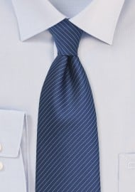 Dark Blue Pencil Stripe Necktie