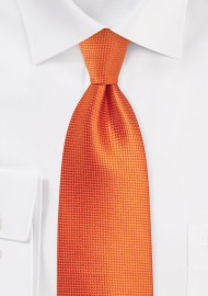 Kids Tie in Carrot Orange