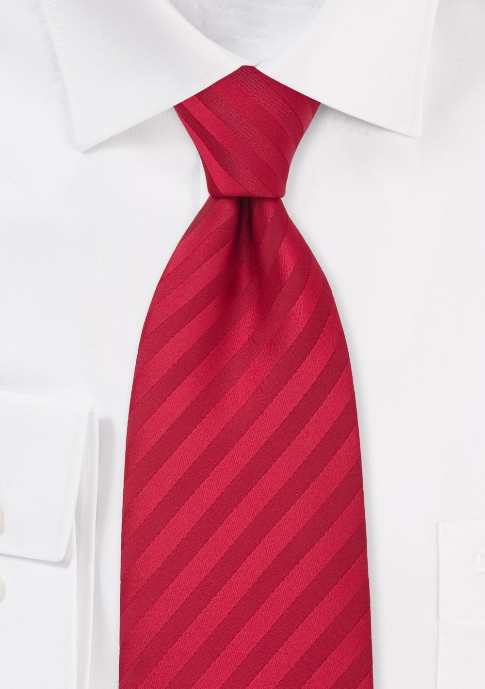 Solid Cherry Red Clip on Necktie