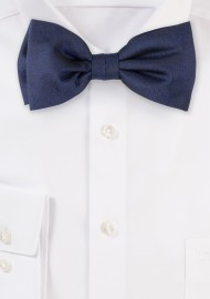 Wood Grain Weave Bowtie in Dark Navy