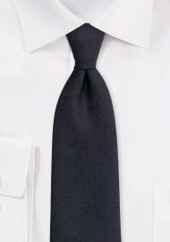 Wood Grain Textured Tie in Jet Black