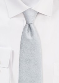 Wood Grain Textured Tie in Sterling Silver