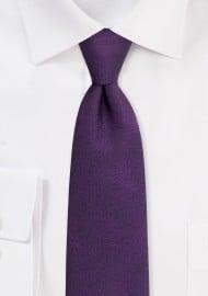 Lapis Purple Mens Tie with Wood Grain Texture