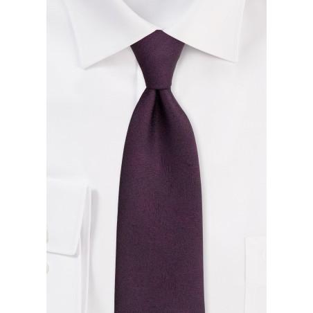 Wood Grain Textured Tie in Wine