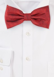 Wood Grain Bowtie in Apple Red
